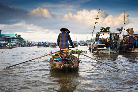 Wasserlabyrinth Mekong-Delta