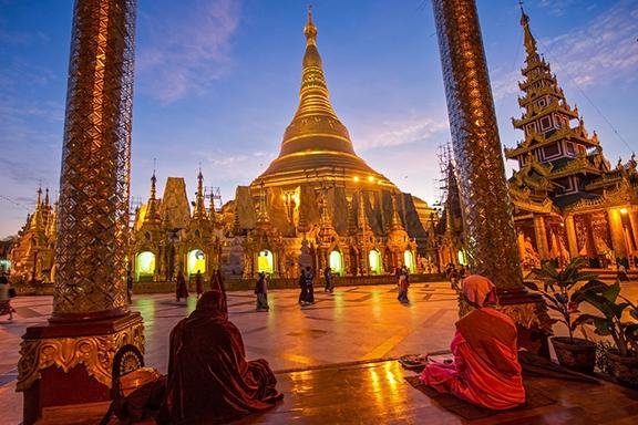 Yangon und die Shwedagon-Pagode