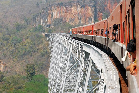 Von Hsipaw nach Pyin Oo Lwin: Mit dem Zug über die Gokteik-Brücke