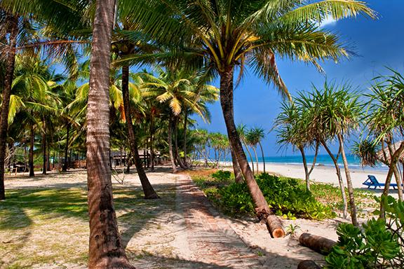 Entspannen am Strand von Ngapali