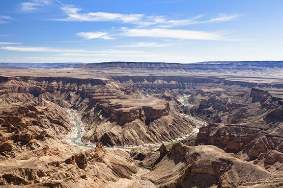 Fish River Canyon und Wildpferde bei Aus
