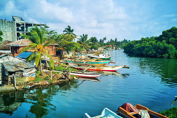 Durch den Zimtkanal in Negombo