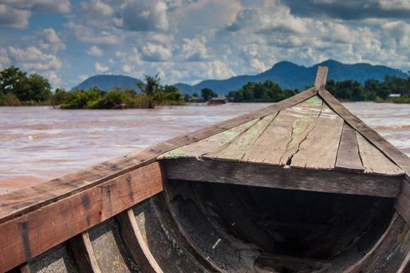 Dorfleben auf der Mekong-Insel Koh Dach