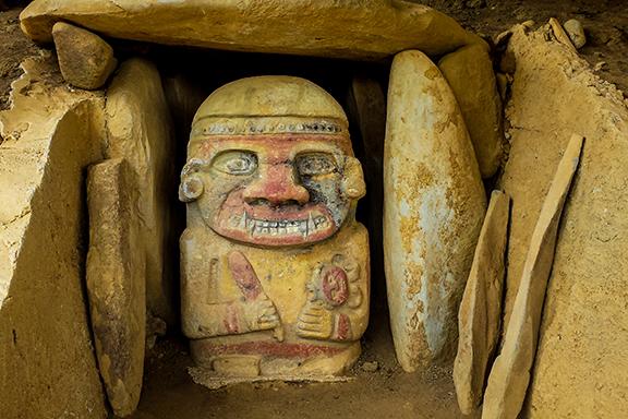 Archäologische Schätze in San Agustín