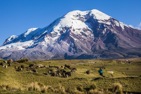 Riobamba am Fuße des Chimborazo