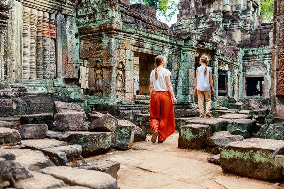 Thailand und Kambodscha Family