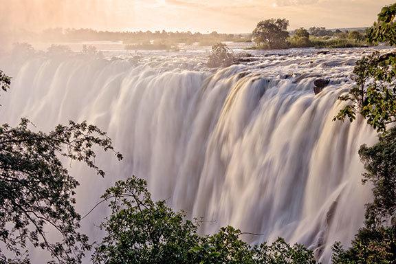 Botswana mit Victoriafällen und Sambesi Region
