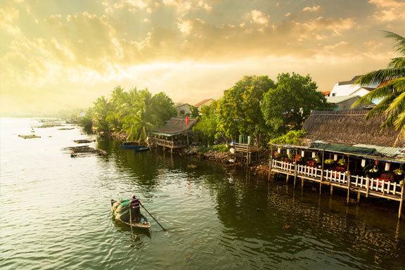 Laos, Kambodscha und Vietnam